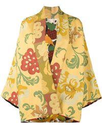 Rianna + Nina - Floral Embroidered Short Kimono Jacket - Lyst