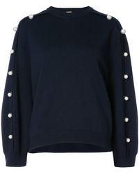 Adam Lippes - Pearl Accented Sweatshirt - Lyst