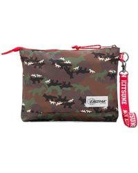 Maison Kitsuné - Fox Patterned Clutch Bag - Lyst