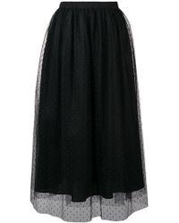 Blugirl Blumarine - Dotted Gathered Midi Skirt - Lyst