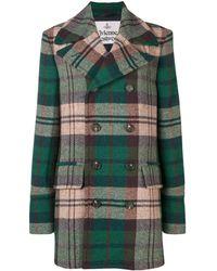 Vivienne Westwood Tartan Double-breasted Coat - Green