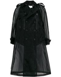 Maison Margiela - Sheer Tailored Coat - Lyst