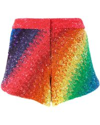 Manish Arora - Rainbow Striped Shorts - Lyst