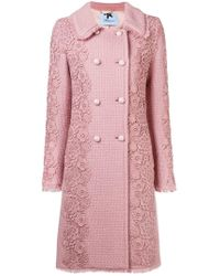 Blumarine - Floral Embroidered Coat - Lyst