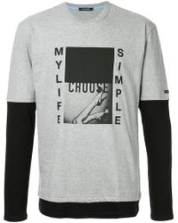 Education From Young Machines - Graphic Print Contrast T-shirt - Lyst