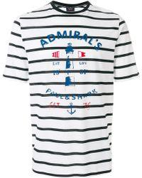 Paul & Shark | Striped Logo T-shirt | Lyst