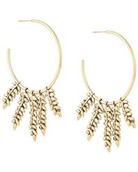 Aurelie Bidermann - 'mia' Hoop Earrings - Lyst