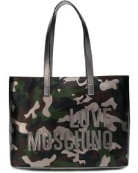 Love Moschino - Camouflage Print Tote - Lyst