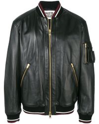 Fausto Puglisi - Leather Bomber Jacket - Lyst