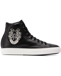 Roberto Cavalli - Embroidered Motif Hi-top Trainers - Lyst