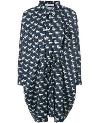 Peter Jensen - Lip Print Oversized Shirt Dress - Lyst