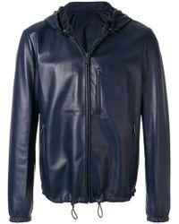 91251f08fb41 Lyst - Blouson en cuir Louis Vuitton pour homme en coloris Bleu