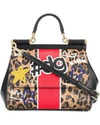 Dolce & Gabbana - Medium Sicily Leopard Print Tote - Lyst