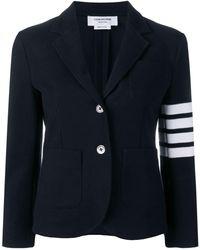 Thom Browne - 4-bar Stripe Navy Sport Coat - Lyst