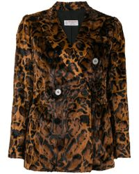 Alberto Biani - Leopard Faux Fur Jacket - Lyst