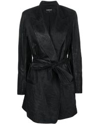 Ann Demeulemeester - Belted Coat - Lyst
