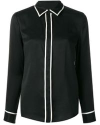 Equipment - Contrast Piping Shirt - Lyst