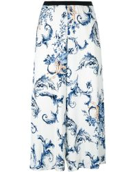 Antonio Marras | Floral Print Cropped Trousers | Lyst