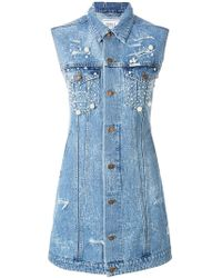 Forte Couture - Midi Denim Dress - Lyst
