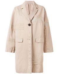 N°21   - Lace Detail Coat - Women - Cotton/linen/flax - 40   Lyst