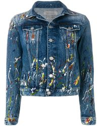 Ck Jeans - Paint Splash Denim Jacket - Lyst