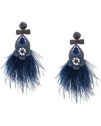 Ranjana Khan | Feathered Oversized Earrings | Lyst