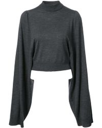 Vera Wang - Pull crop à manches oversize - Lyst