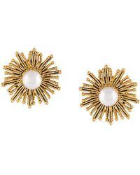 Oscar de la Renta - Pearl Sun Earrings - Lyst