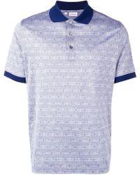 Brioni - Poloshirt mit Hahnentrittmuster - Lyst