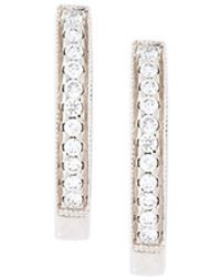 Wouters & Hendrix - Diamond Hoop Earrings - Lyst