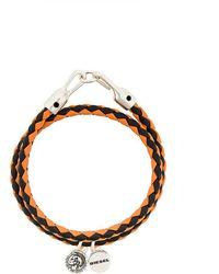 DIESEL - Braided Bracelet - Lyst