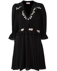 Giamba - Embroidered Ruffle Dress - Lyst