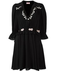 Giamba - Embroidered Ruffle Dress - Lyst