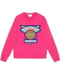 b8b4a5727d8 Gucci Bengal Print Sweatshirt in Blue for Men - Lyst