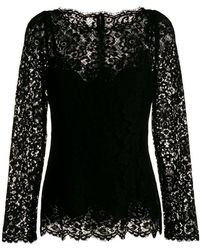 Dolce & Gabbana - Long-sleeved Lace Blouse - Lyst