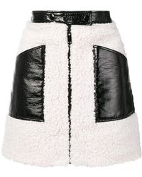 Courreges - Faux-shearling Mini-skirt - Lyst