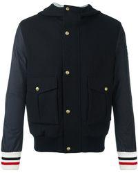 Moncler - Hooded Bomber Jacket - Lyst