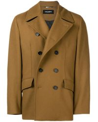 Dolce & Gabbana - Double-breasted Fitted Coat - Lyst