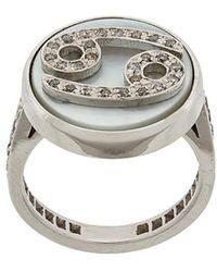 Carolina Bucci - 18kt Gold And Grey Diamond Lucky Cancer Zodiac Ring - Lyst