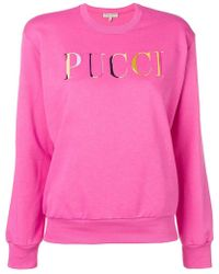 Emilio Pucci - Logo Embroidered Sweatshirt - Lyst