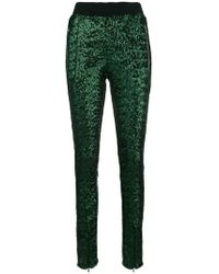 Amen - Sequin Embellished Slim Trousers - Lyst