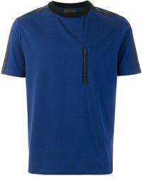 Prada | Contrast Panel T-shirt | Lyst