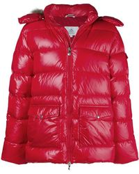 Pyrenex - Fur Trim Hood Padded Jacket - Lyst