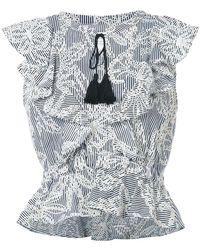 McGuire Denim - Striped Embroidered Top - Lyst
