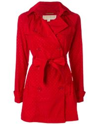 MICHAEL Michael Kors - Polka-dot Short Trench Coat - Lyst