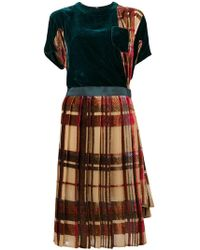 e30ac024a9c Sacai - Asymmetric Plaid Dress - Lyst