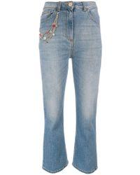 Elisabetta Franchi - Kick Flare Jeans - Lyst