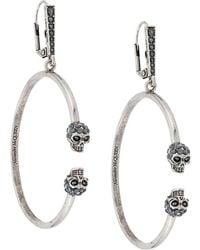 Alexander McQueen - Skull Earrings - Lyst