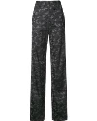 Nicole Miller - Camouflage Print Trousers - Lyst