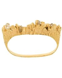 Niza Huang - Under Earth Double Ring - Lyst